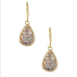 Eardrop Gray Rock Crystal Earrings E600GY